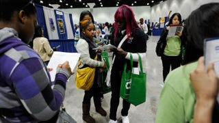 High school students attend a college and career convention at the Los Angeles Convention Center on Dec. 8, 2010, in Los Angeles.Kevork Djansezian/Getty Images