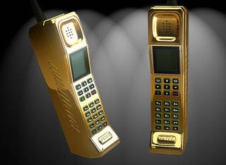 Illustration for article titled The Humble Brick Phone Gets Updated With 22ct Gold and Diamonds