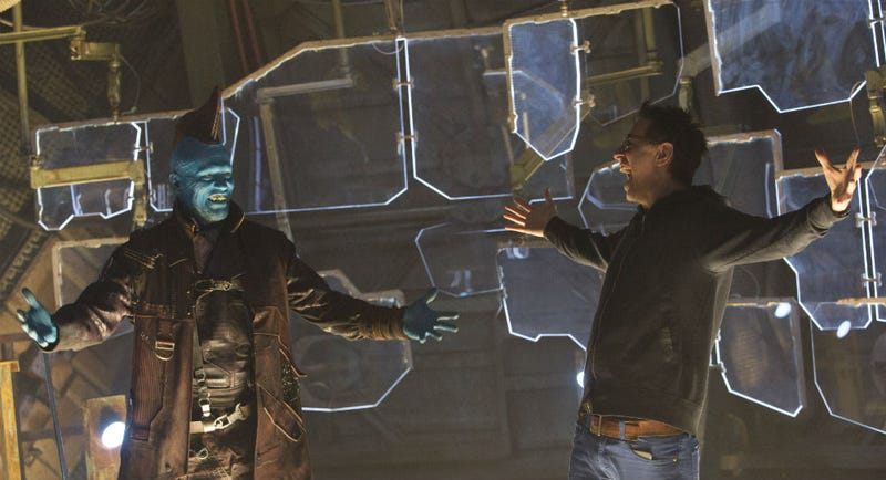 James Gunn and Michael Rooker as Yondu on the set of Guardians of the Galaxy Vol. 2. Image: Disney