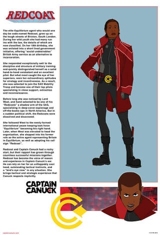 Illustration for article titled In Captain Canuck News...Introducing Redcoat!