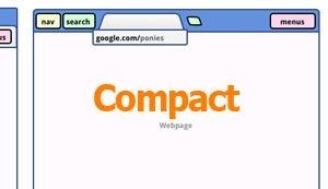 "Illustration for article titled ""Compact"" Design Could Eliminate Chrome's Address Bar"