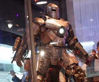Illustration for article titled Shiny, Scary Iron Man Suit at CES