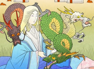 Illustration for article titled Artist brilliantly reimagines Game of Thrones as classic Japanese art