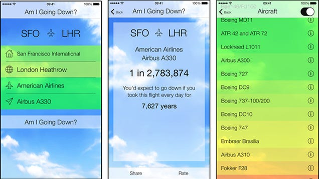 This app tells you the probability of your plane crashing for App that tells you what is in a picture