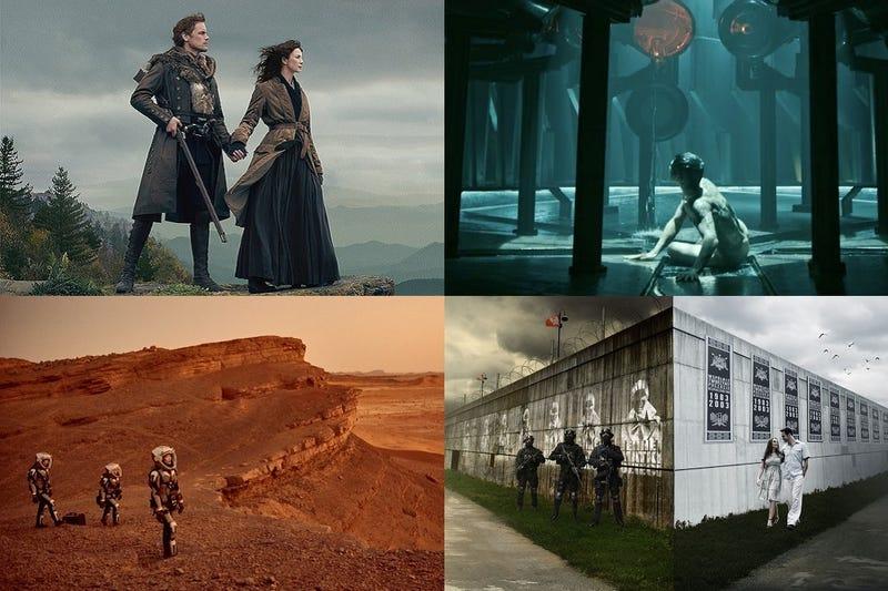Clockwise from top left: Outlander, Origin, 1983 & Mars.