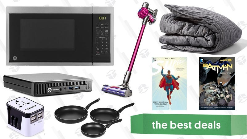 Illustration for article titled Thursday's Best Deals: Dyson V6, Gravity Blanket, Mini Desktop, and More