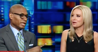 Charles Blow and Kayleigh McEnany (CNN screenshot)