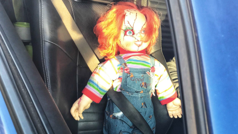 Illustration for article titled Police Joke About Jon Gruden After Ticketing Carpool-Lane Driver With Chucky Doll In Front Seat