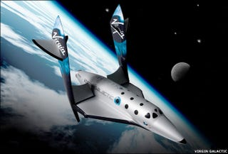 Illustration for article titled Virgin Galactic Unveils Spaceships That'll Take Passengers Up in 2009