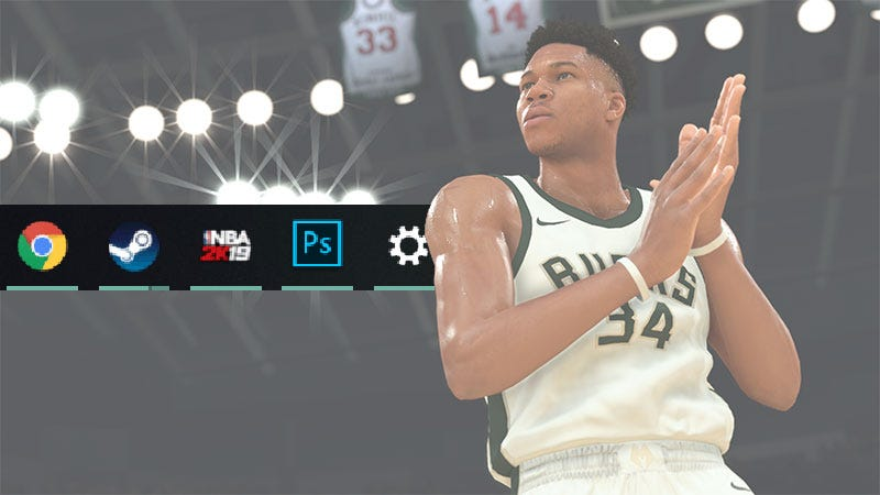 Illustration for article titled Somebody Forgot To Update NBA 2K20's Taskbar Icon