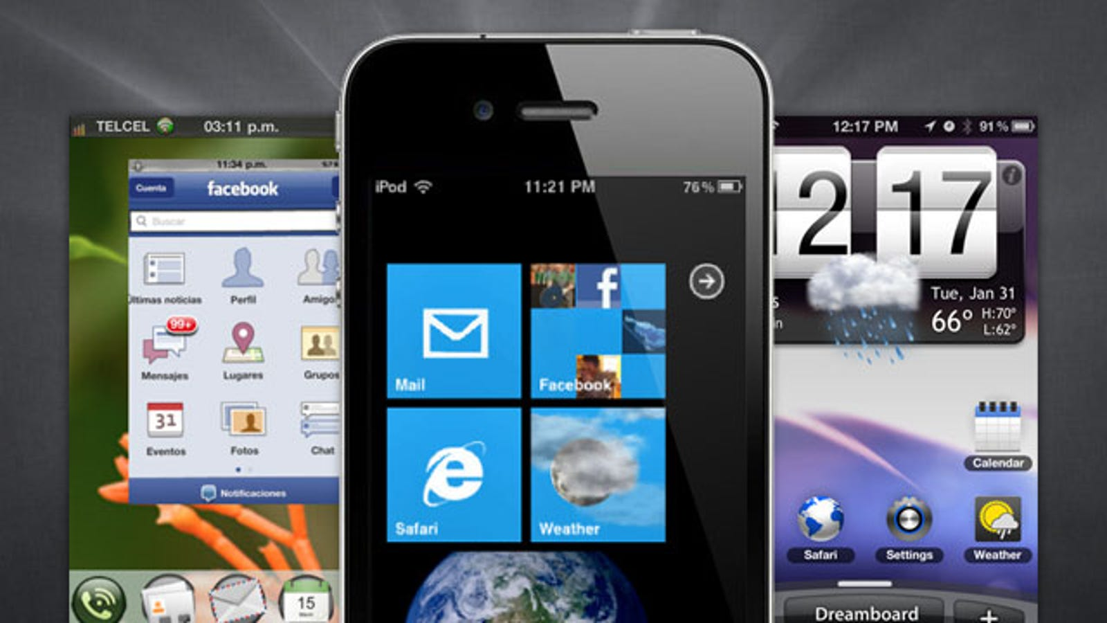 Make Your Jailbroken Iphone Look Like Android Windows Phone 7 Or