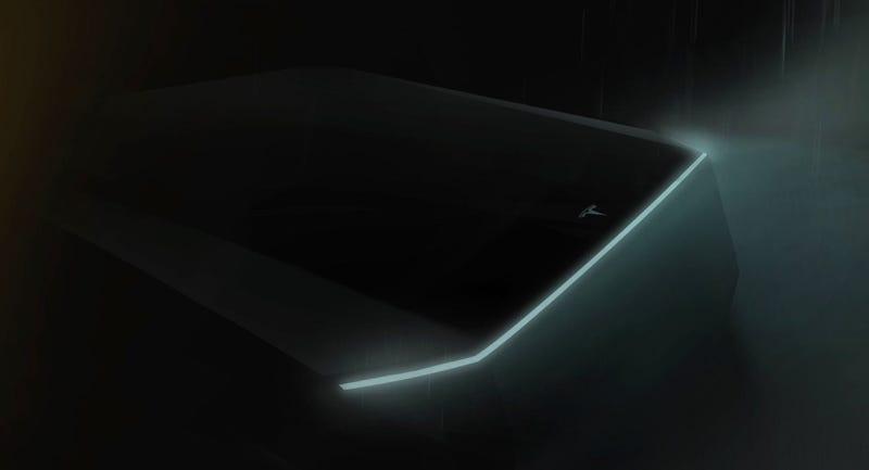 Illustration for article titled Elon Musk Snuck a Teaser of the Tesla Truck into the Model Y Presentation