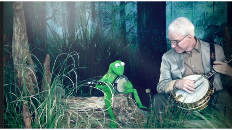 """Image result for Steve Martin and Kermit the Frog in """"Dueling Banjos"""""""