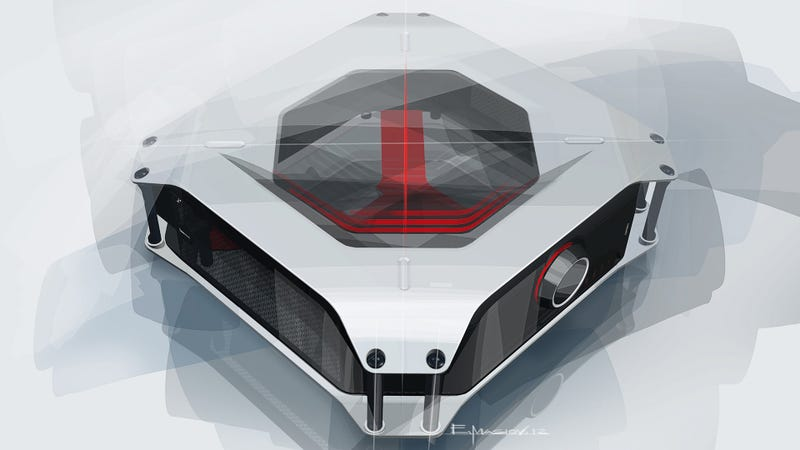 Illustration for article titled BMW Designs The Ultimate Gaming Machine