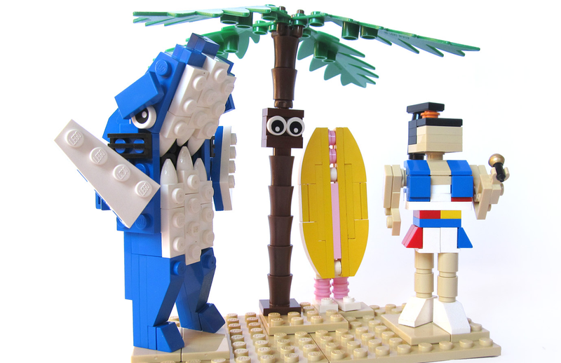Illustration for article titled Six Days To LEGO Left Shark? Not Bad.