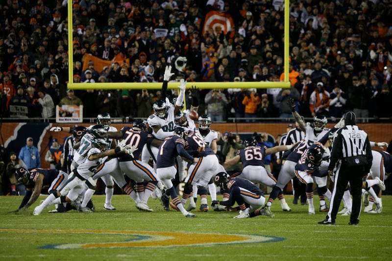 Illustration for article titled Cody Parkey's Double-Doink Was Tipped