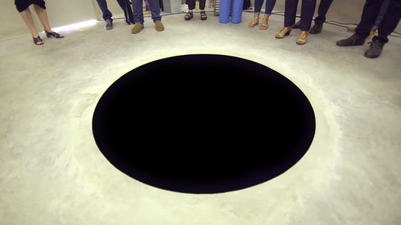 Illustration for article titled Museum Visitor Falls Into Giant Hole That Looks Like a Cartoonish Painting on the Floor