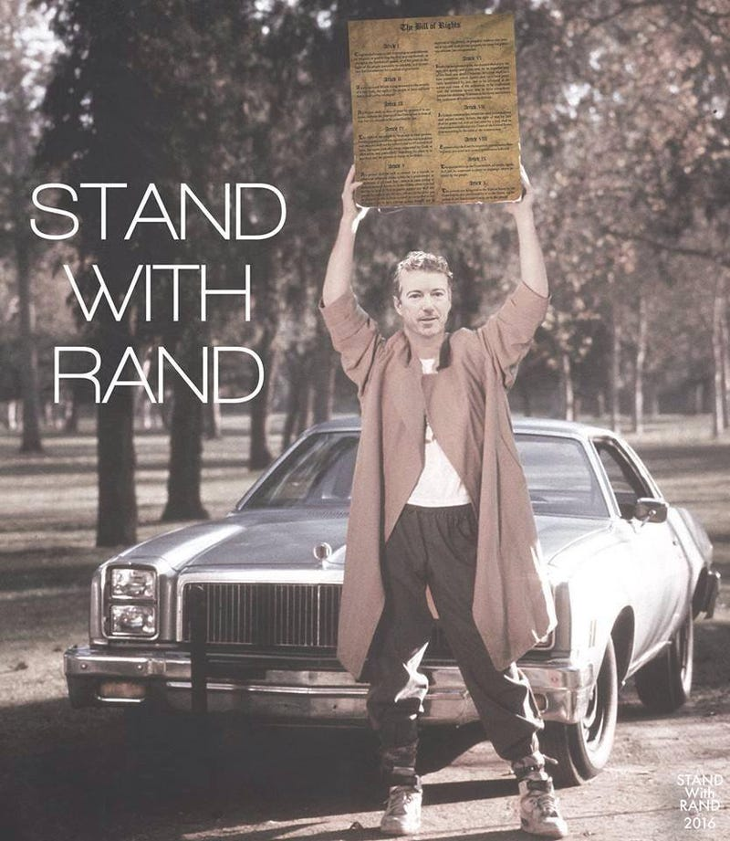 Illustration for article titled Stand with Rand! Maybe actually no, don't do that.