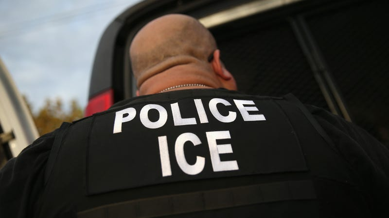 U.S. Immigration and Customs Enforcement (ICE), agents detain an immigrant on October 14, 2015 in Los Angeles, California.