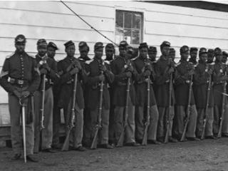 Members of Company E, 4th U.S. Infantry Regiment (Library of Congress)
