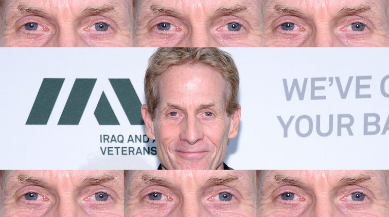 Illustration for article titled I'm Just Saying, Skip Bayless Would Be A Happier Dude If He Ate Some Popeye's