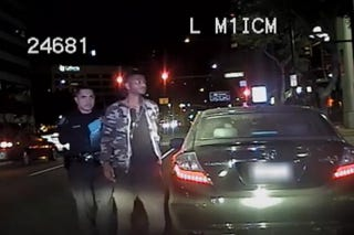 Taraji P. Henson's son, Marcell, was stopped for running a yellow light.YouTube Screenshot