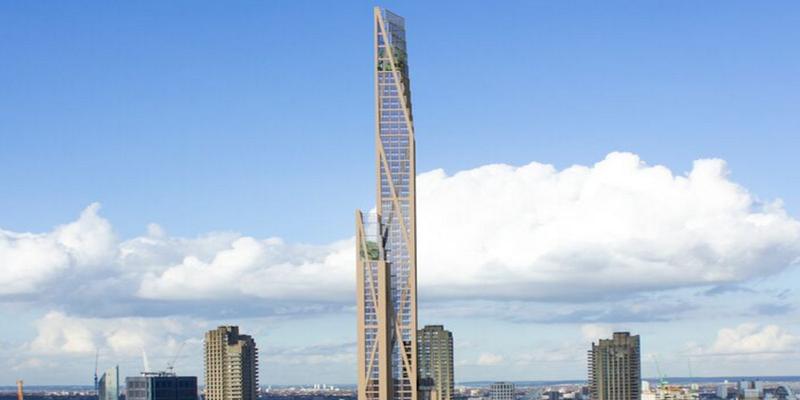 Illustration for article titled El edificio de madera más alto del mundo tiene 14 pisos. Londres planea construir uno de 80