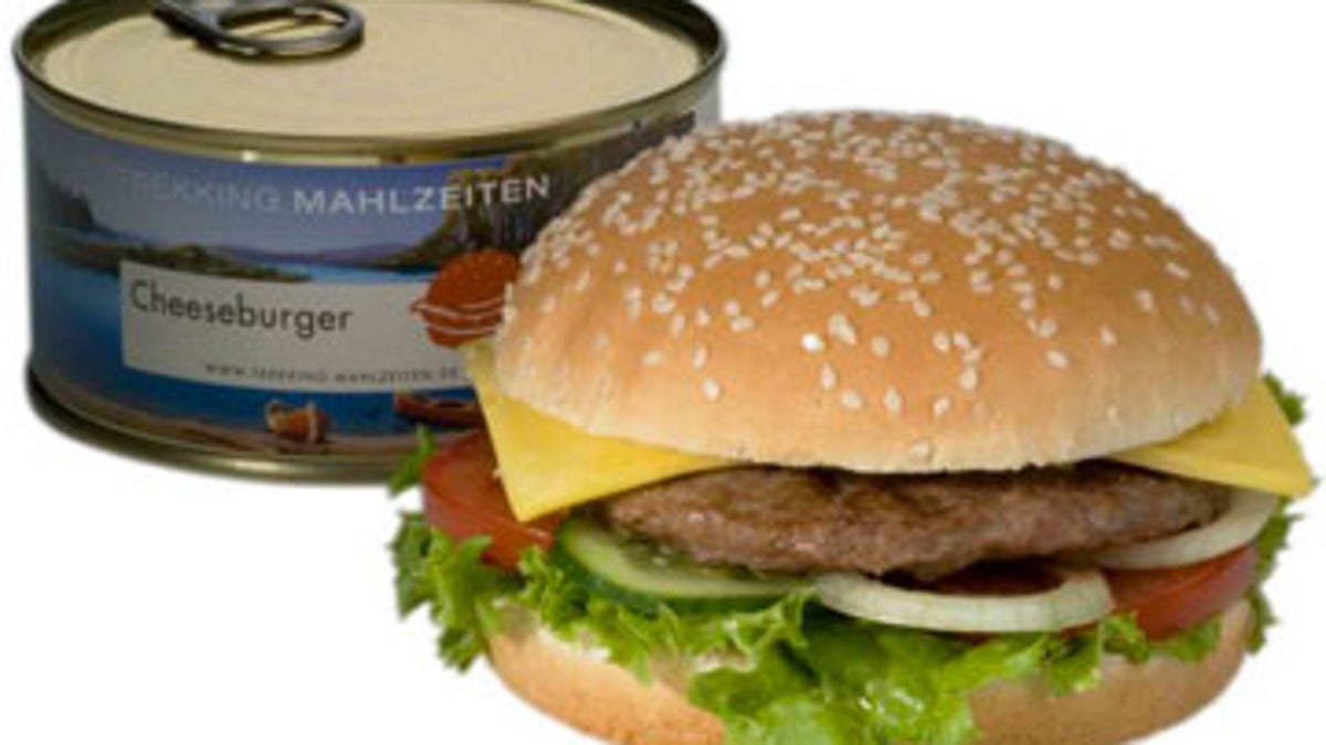 taste test cheeseburger in a can