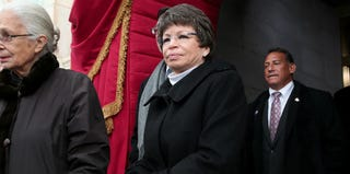 Valerie Jarrett, senior adviser to President Barack Obama, arrives for the inauguration in 2013. (Win McNamee/Getty Images)