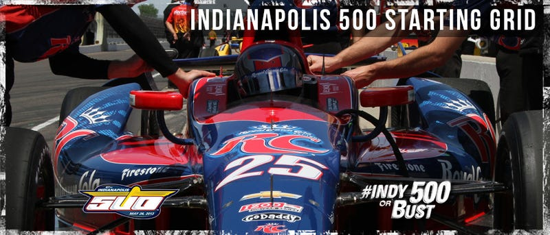 Indy 500 starting grid and printer friendly spotters guide pdf for Indianapolis motor speedway com