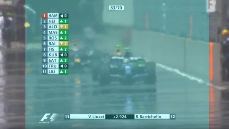 Illustration for article titled F1's On-Screen Graphics Might Suck, But They're Better Than What We Used To Have
