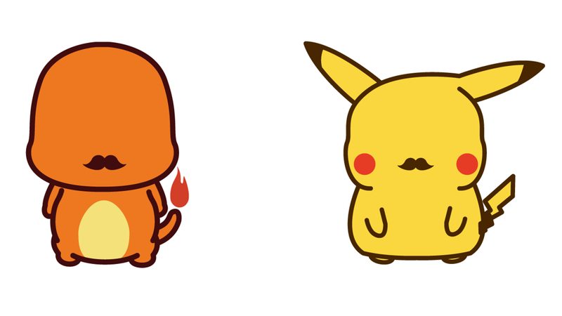 Illustration for article titled Pokémon With Mustaches Are Classy, Adorable