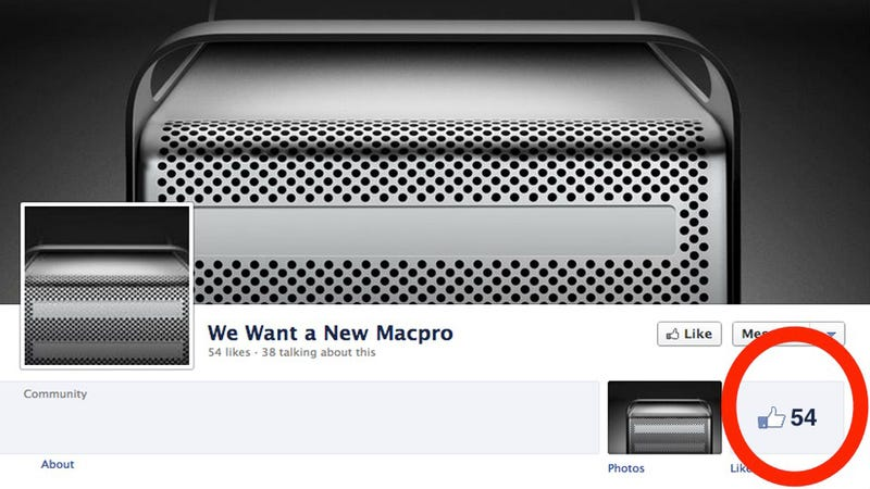 Illustration for article titled Mac Pro Fans Launch Sad Facebook Campaign For Upgrade