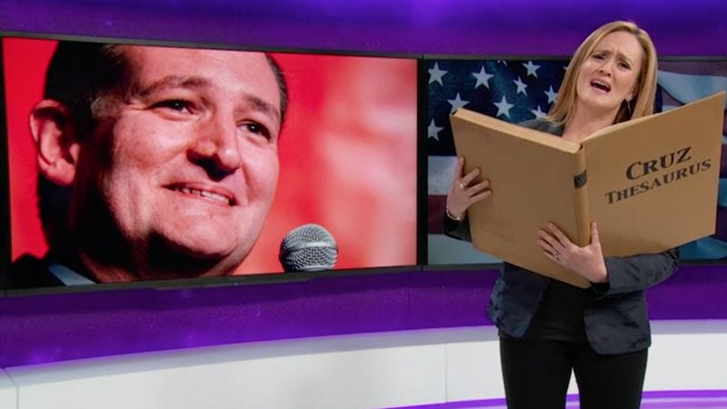 Illustration for article titled Full Frontal With Samantha Bee bids a fond farewell to Ted Cruz jokes