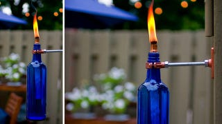 Illustration for article titled Turn a Used Wine Bottle into a Stylish, Mosquito-Repelling Torch