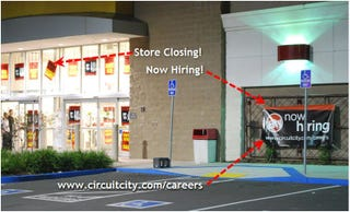 Illustration for article titled Exciting Two Week Career Opportunities Await You At Circuit City