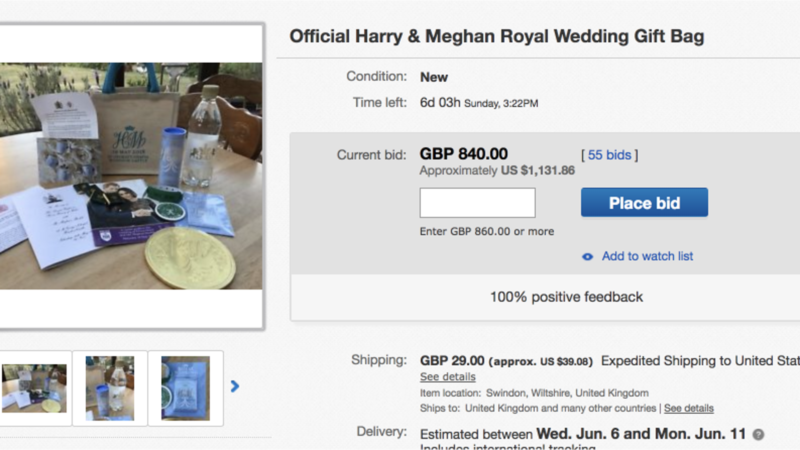 you can buy an overpriced bag of garbage from the royal wedding on ebay