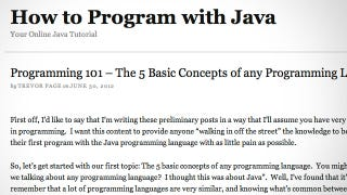 How to Program With Java Teaches You the Basic Concepts of ...