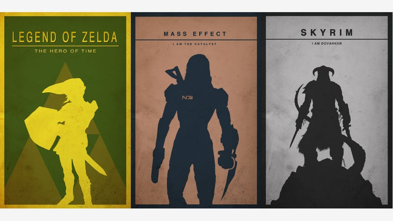 Illustration for article titled The Most Gorgeous Minimalist Gaming Posters You'll See Today