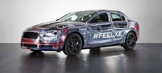 Illustration for article titled See The BMW-Fighting 2016 Jaguar XE In The Bare Metal
