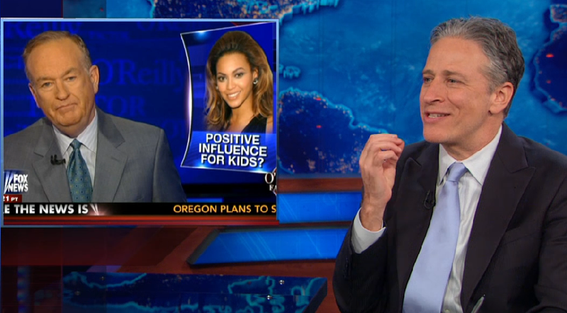 Illustration for article titled The Daily Show Takes on Bill O'Reilly's Weird Beyoncé Obsession