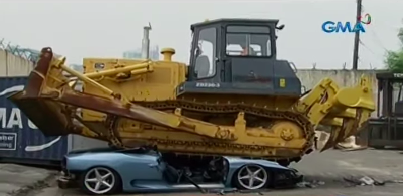 The Philippines Government Just Destroyed a Ferrari 360 Spider