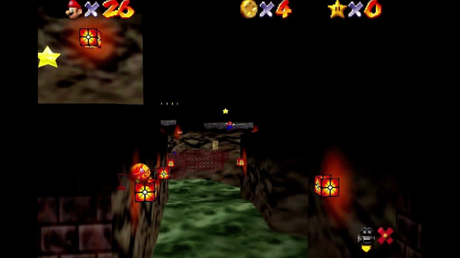 Famous Super Mario 64 Trick Involving Parallel Universes