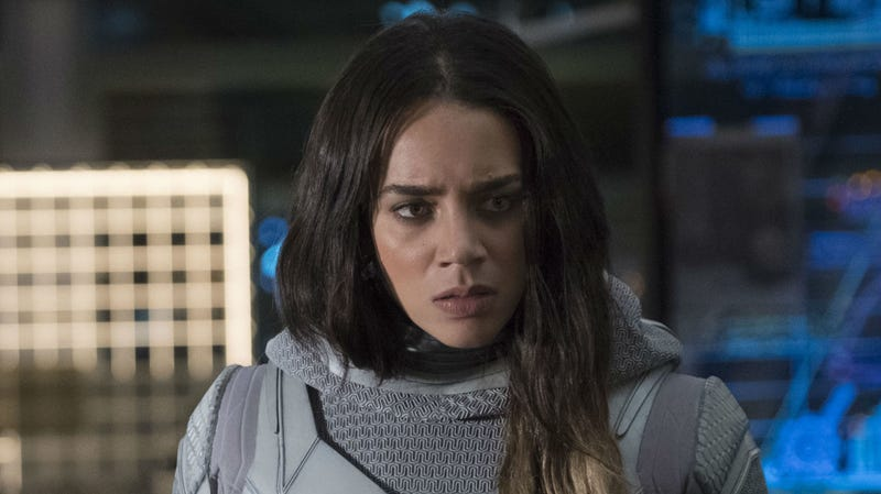 Hannah John-Kamen as the Ghost in Ant-Man and the Wasp.