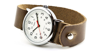 Illustration for article titled Get a Classic Timex Watch with a Handmade Leather Band + Free Shipping
