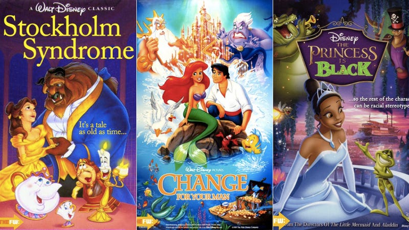 Illustration for article titled Brutally Honest Disney Movie Posters Are Both Sad and Hilarious
