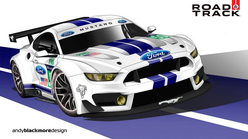 Illustration for article titled Why the new Ford Mustang should go race at Le Mans