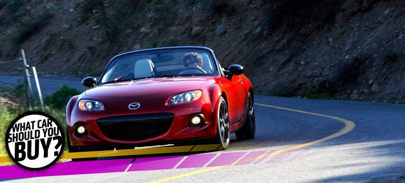 Illustration for article titled My Miata Is No Longer The Answer! What Car Should I Buy?