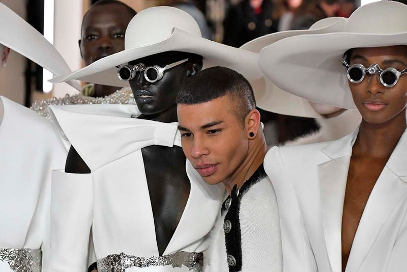 Olivier Rousteing walks the runway during the Balmain Haute Couture Spring Summer 2019 fashion show as part of Paris Fashion Week on January 23, 2019 in Paris, France.