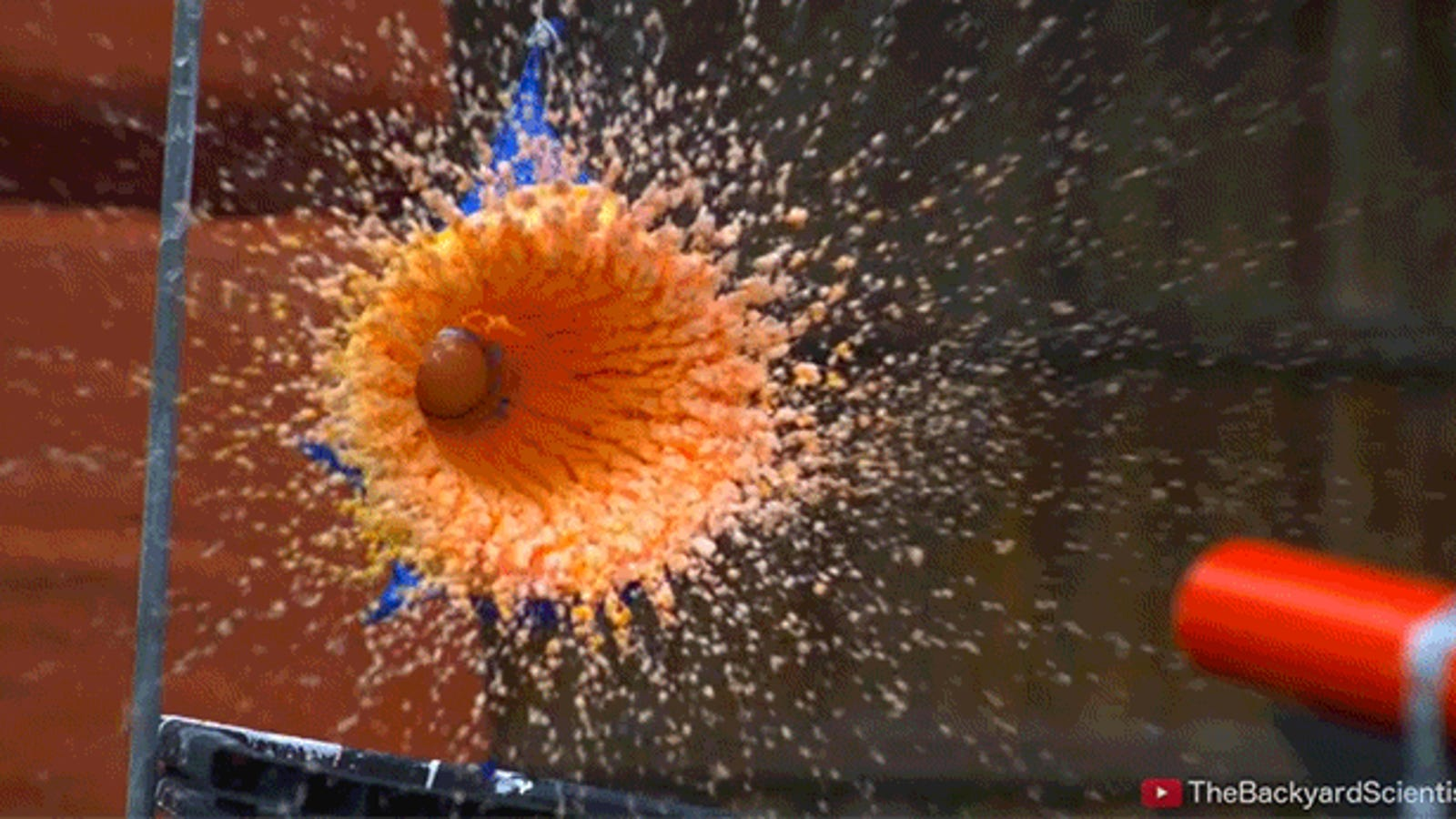 What Happens When You Shoot a Golf Ball at a Balloon Filled with Non-Newtonian Fluid?
